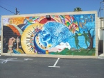 Colorful Mother Earth Psychedelic Mural Phoenix
