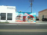Multi Color Mountain Store Front Mural Phoenix