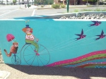 Clown on Bike Phoenix Mini Mural